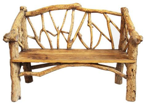 outdoor log bench log bench rustic outdoor benches by design mix furniture