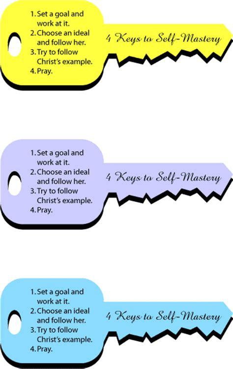{ Mormon Share } 4 Keys to Self Mastery   Lesson Handout