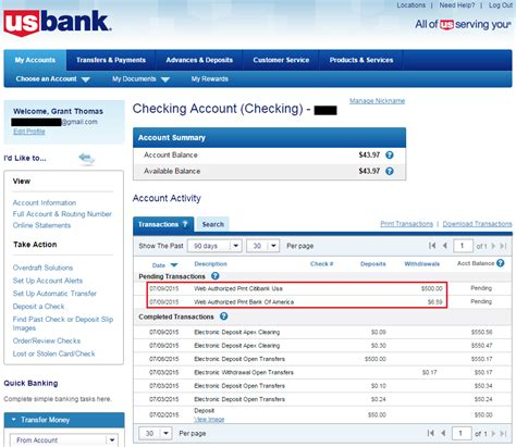 Cannot Apply for US Bank Checking Account Online with Frozen ARS/IDA Credit Reports, Must Apply