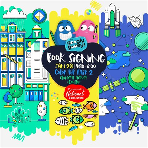 coloring book tour dates book signing happy 2 weeks googly gooeys