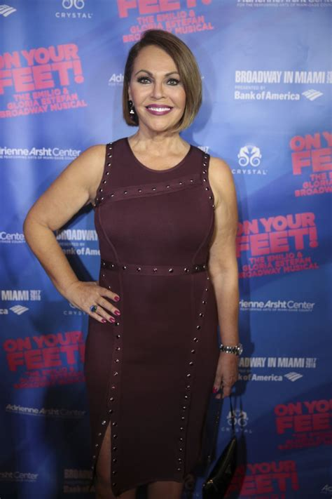 maria elena salinas maria elena salinas at on your feet broadway musical in