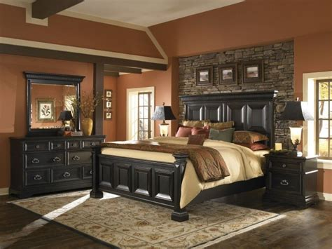 stone bedroom furniture stone accent wall for traditional bedroom decorating style