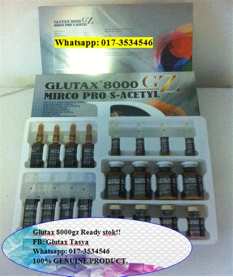 Glutax 8000gz original injection vitamin c glutax 8000gz micro pro s acetyl new