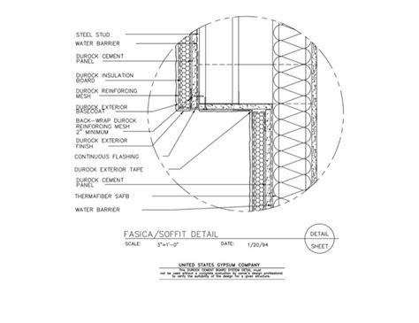 eifs wall section usg design studio 09 21 16 03 231 durock fasica and