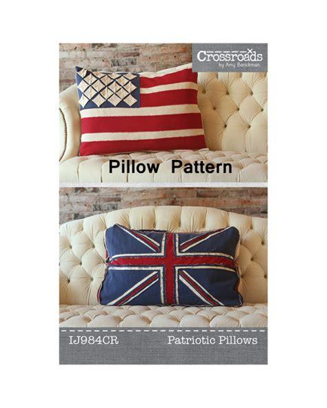 sewing pattern union jack patriotic pillow pattern american flag pattern union jack
