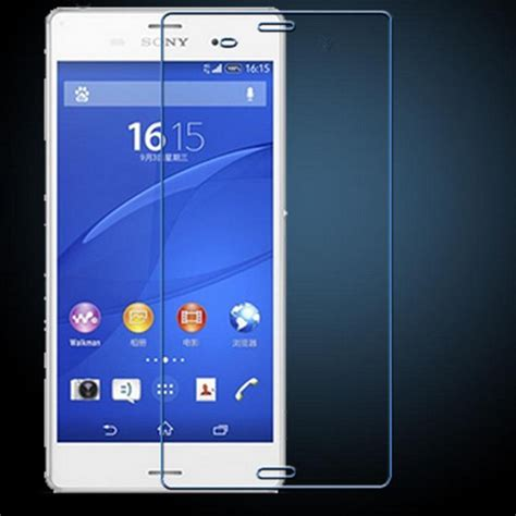 Tempered Glass Anti Gores Kaca Sony Z3 Big 1 new 0 3mm thin tempered glass anti shatter screen protector cover for sony xperia z3