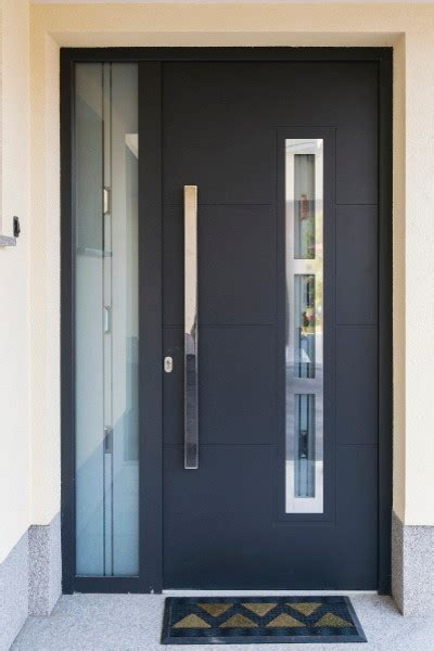 Contemporary Exterior Front Doors Modern Front Entry Door With A Sidelite Modern Front Doors New York By Ville Doors