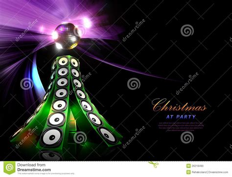 christmas disco party poster template stock illustration