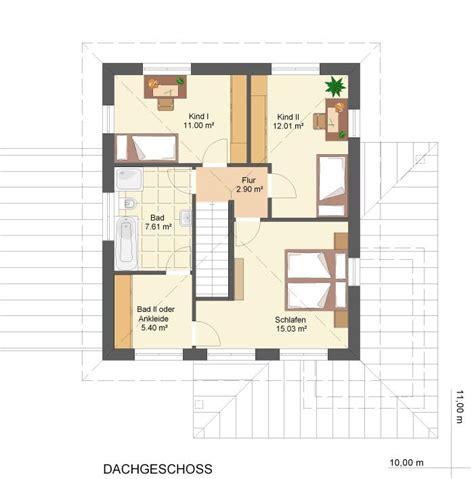 rhader hausbau grundriss einfamilienhaus mit gerader treppe raum und