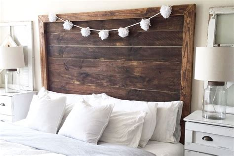 diy farmhouse headboard 25 diy headboards you can make in a weekend or less