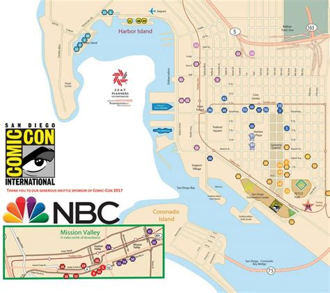 sdcc map sdcc 2017 shuttle map schedule revealed san diego comic