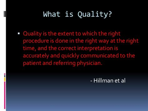 Explain Quality Challenges In Quality Management Of Diagnostic Imaging