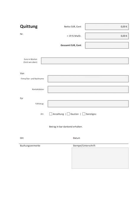 Microsoft Word Vorlage Quittung Autofreund24 De Vorlagen F 252 R Den Autohandel