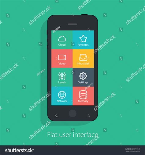 flat mobile set of flat mobile elements flat mobile phones and flat