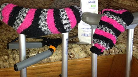 how to make crutches more comfortable comfy crutches made with socks easy funn creative