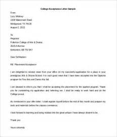 University Acceptance Letter Template 10 Acceptance Letter Templates Free Sample Example