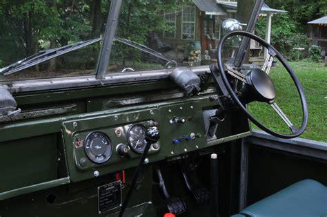 land rover series 3 interior restored 1954 land rover series 1 bring a trailer