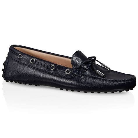 driving shoes tod s gommino driving shoes in leather in blue lyst