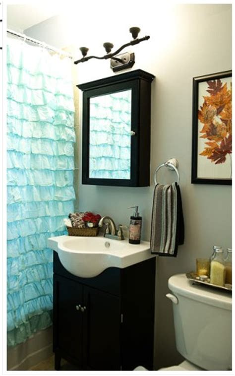 inspired ruffled shower curtain remodeling ideas for