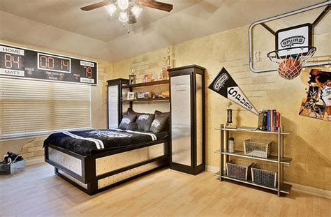 Theme Ideas For Bedrooms by 14 Awesome Basketball Themed Rooms For Your Youngsters