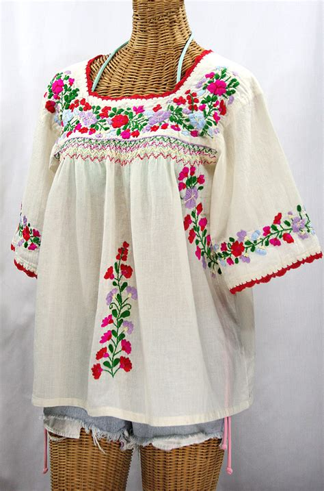 Embroided Blouse white embroidered peasant blouse blouse with