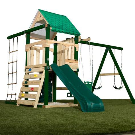 swing n slide plans shop swing n slide yukon residential wood playset with