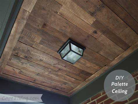 pallet wood ceiling peekaboo pallet ceiling