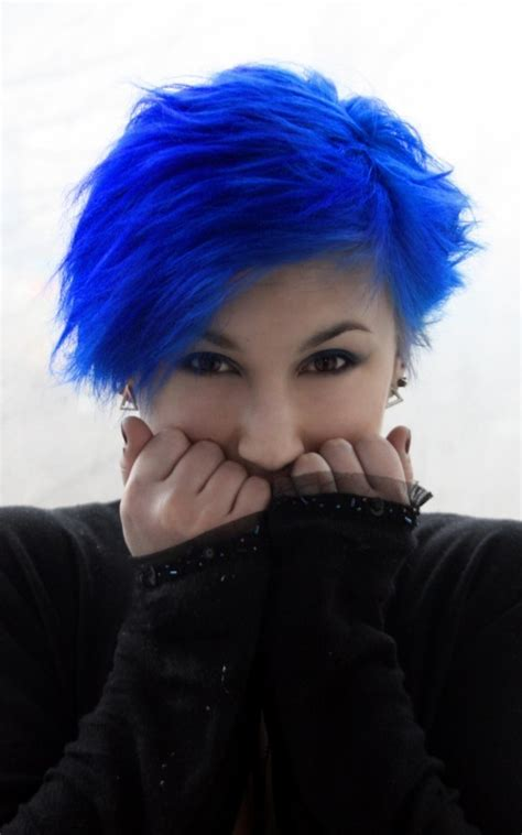 black bleue blue blue hair bluehead image