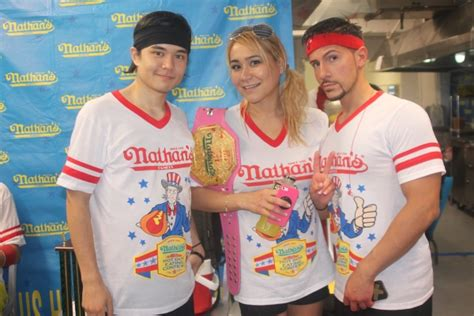 female hot dog eating contest winner miki sudo photos on broadwayworld