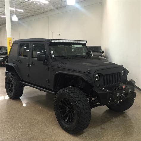 custom black jeep all black everything satin black custom finish vpr