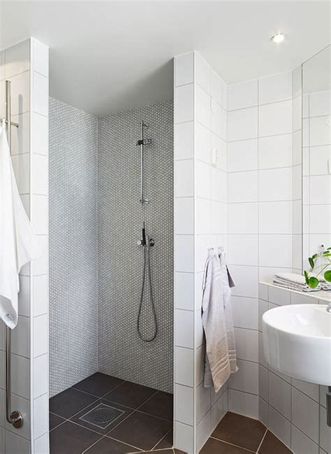 white square tiles with grey grout hexagon mosaic in the
