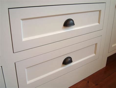 white shaker cabinets with cup pulls home design ideas