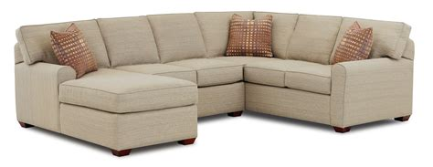 sofa with lounger sectional sofa with left facing chaise lounge by klaussner