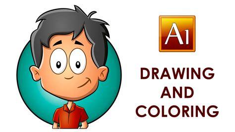 illustrator tutorial drawing cartoon adobe illustrator drawing and coloring a cartoon child