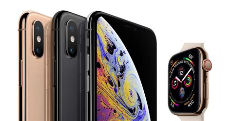 apple begins shipping iphone xs iphone xs max and apple series 4