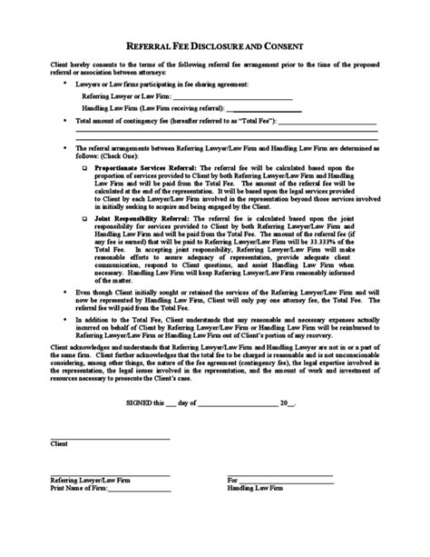 Referral Fee Agreement Template Picture Of Uk Broker Fee Agreement For Financial Services Real Estate Referral Agreement Template
