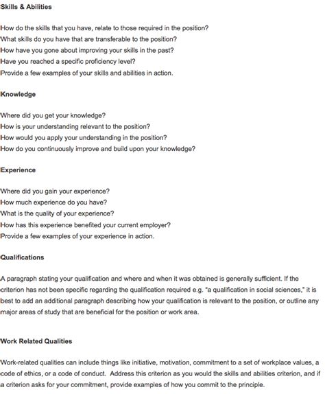 Sle Cover Letter Addressing Criteria cover letter addressing key selection criteria sle 28