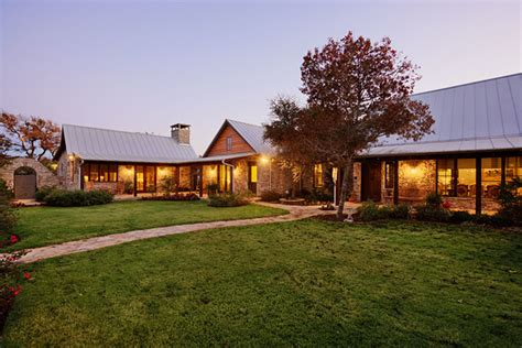 hill country ranch estate rustic exterior