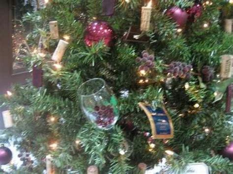 wine themed christmas tree christmas pinterest