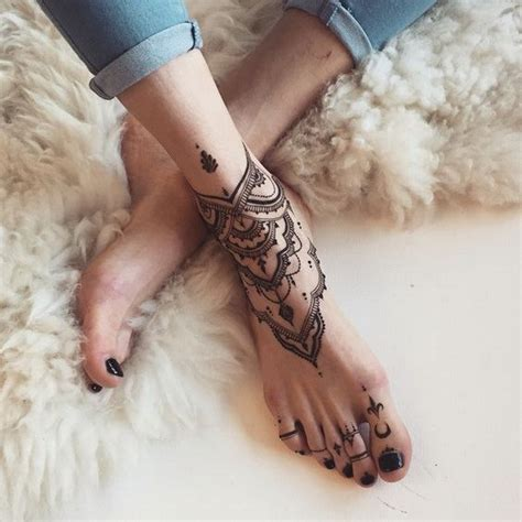 henna tattoo ideas feet 50 foot designs for for creative juice