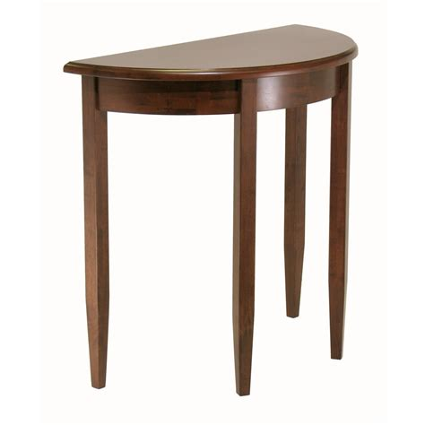 side accent tables winsome concord half moon accent table by oj commerce