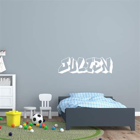 sticker prenom personnalise graffiti stickers chambre