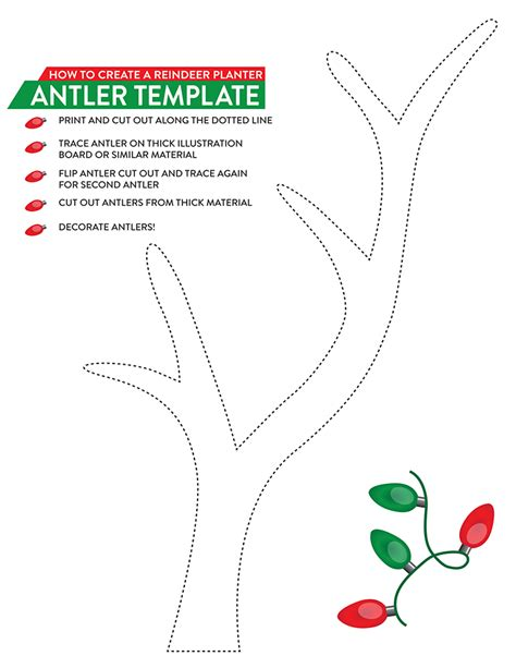 reindeer antlers template a gift for the gardener southern patio
