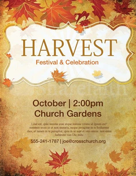 templates for church posters church harvest festival flyer template lords acre