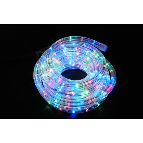 qtx ip44 rated led rope light 50m reel multicolour