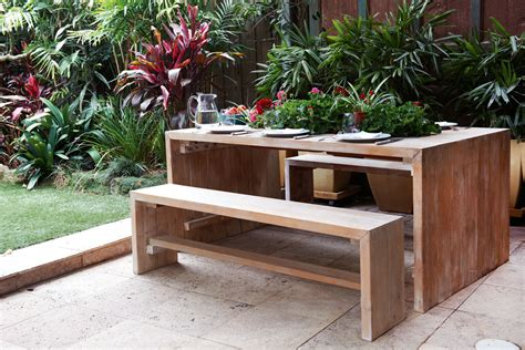 how to build an outdoor table do it yourself build a timber outdoor table