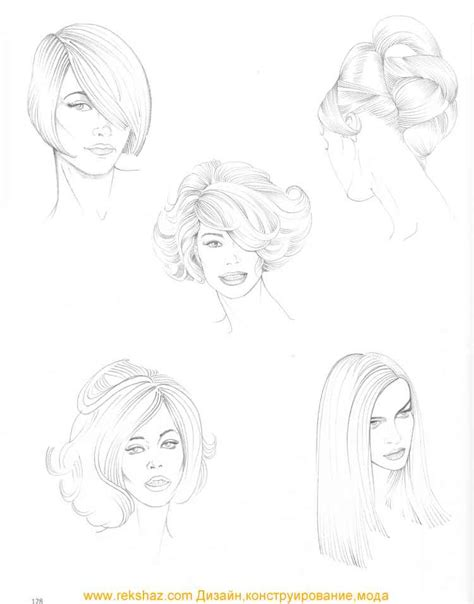 types of pencil hair styles drawing hairstyles art favs pinterest drawing