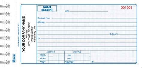 manual receipt template crb 110 wire bound receipt book