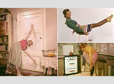 Stepford wife workout! Vintage photos of 'perfect' Fifties ... Ivanka's