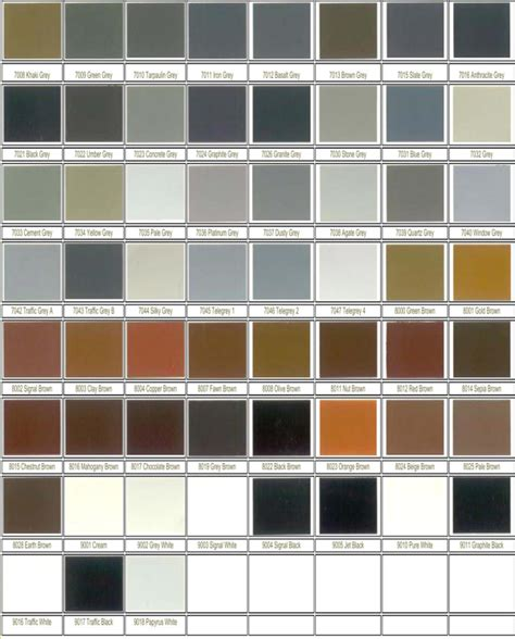 free ral color chart for pdf page 2